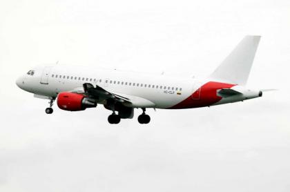 Avión de Avianca para ilustrar nota del préstamo con el Gobierno colombiano.