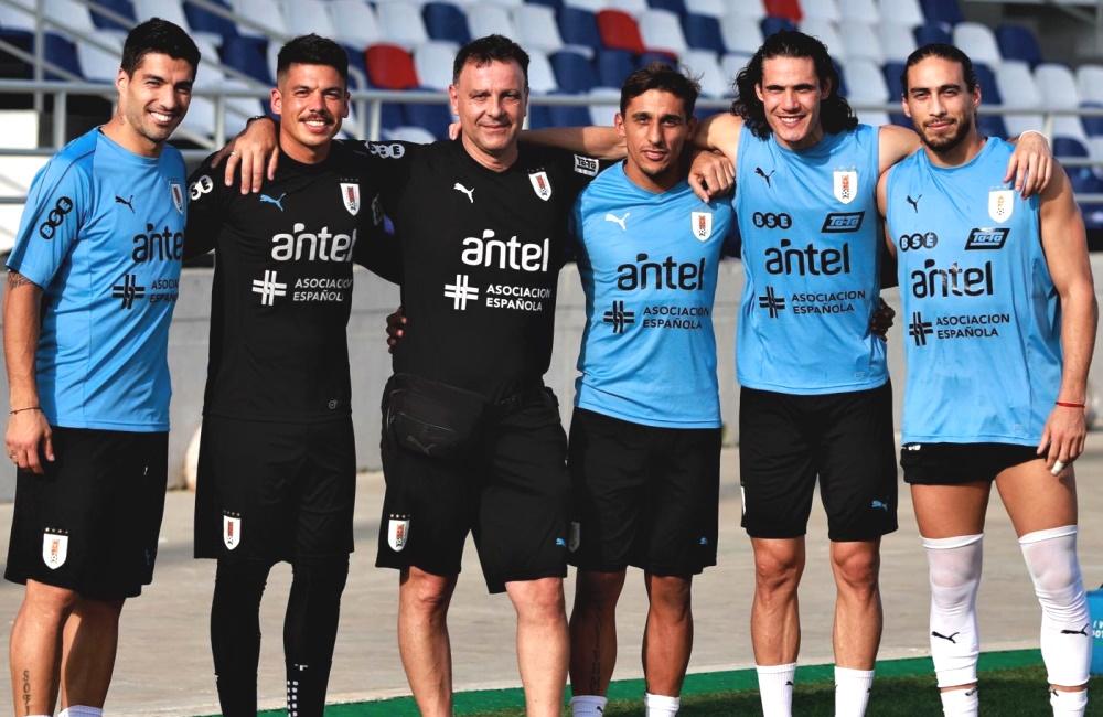 Las estrellas de Uruguay, calientes para el partido ante la Selección Colombia.