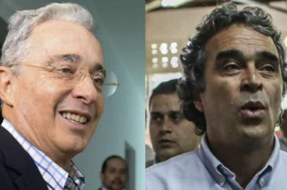 Álvaro Uribe y Sergio Fajardo, políticos que discuten hoy en sus aspiraciones para las elecciones de 2022.