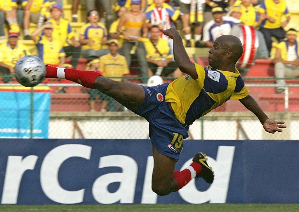 Tressor Moreno fue una de las figuras en el juego contra Uruguay en las eliminatorias para Alemania 2006. Marcó y asistió. En ese partido Colombia aplastó a la 'celeste' con un contundente 5-0 / AFP.