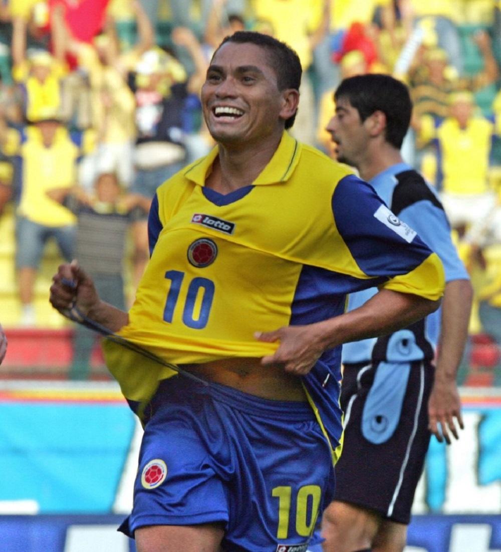 Víctor Danilo Pacheco se destacó ese día con doblete. También marcaron Sergio Herrera y 'Choronta' Restrepo / AFP.