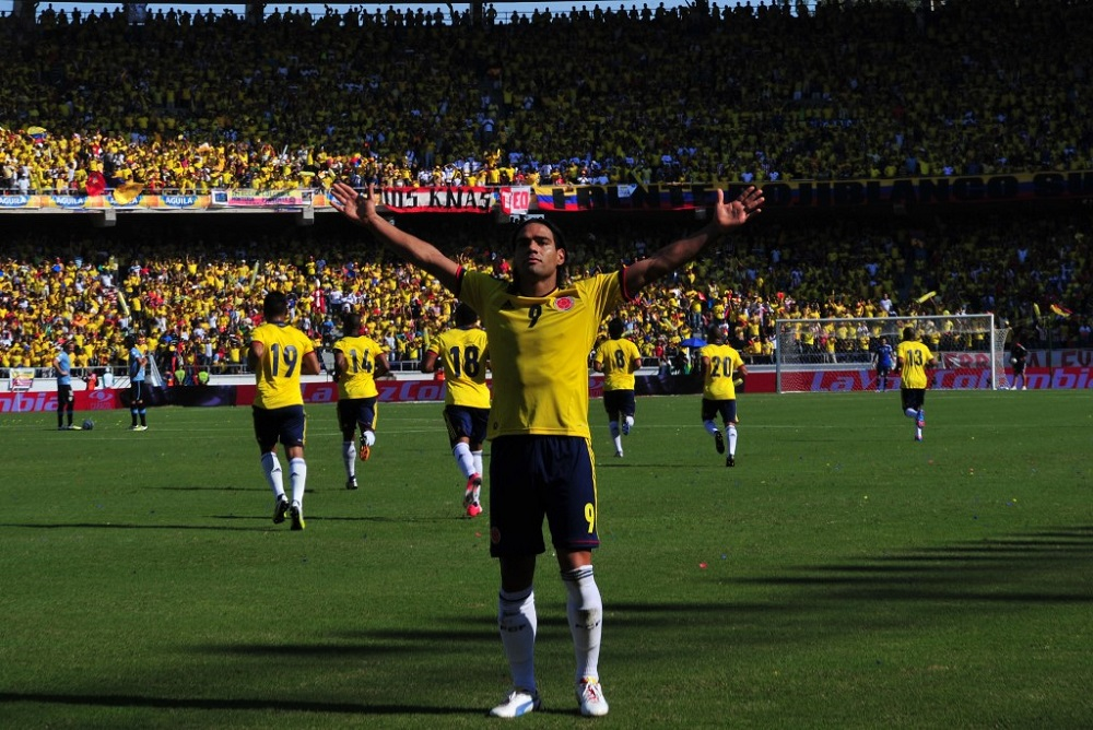 Radamel Falcao abrió la goleada, que ese día fue de 4-0. Junto a él marcaron 'Teo' Gutiérrez (x2) y Camilo Zúñiga.