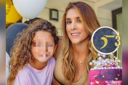Foto de Salomé Rodríguez y Daniela Ospina, a propósito de que la pequeña hizo lindo gesto.