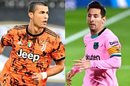 Cristiano Ronaldo y Messi podrían llegar gratis a Mánchester.  Fotomontaje: Pulzo.