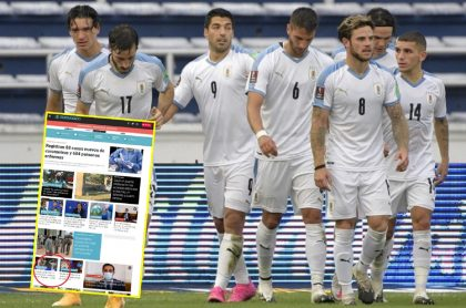 Imagen con el triunfo de Uruguay en Barranquilla.