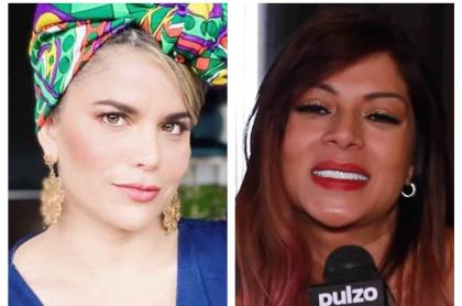 Fotomontaje de Adriana Lucía y Marbelle, a propósito de comentario grosero que hizo esta última.