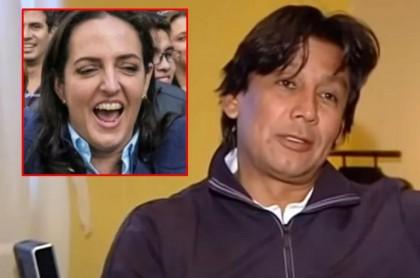 Eduardo Pimentel y María Fernanda Cabal, quien respaldó al presidente del Chicó en su idea de contratar una empleada uribista.