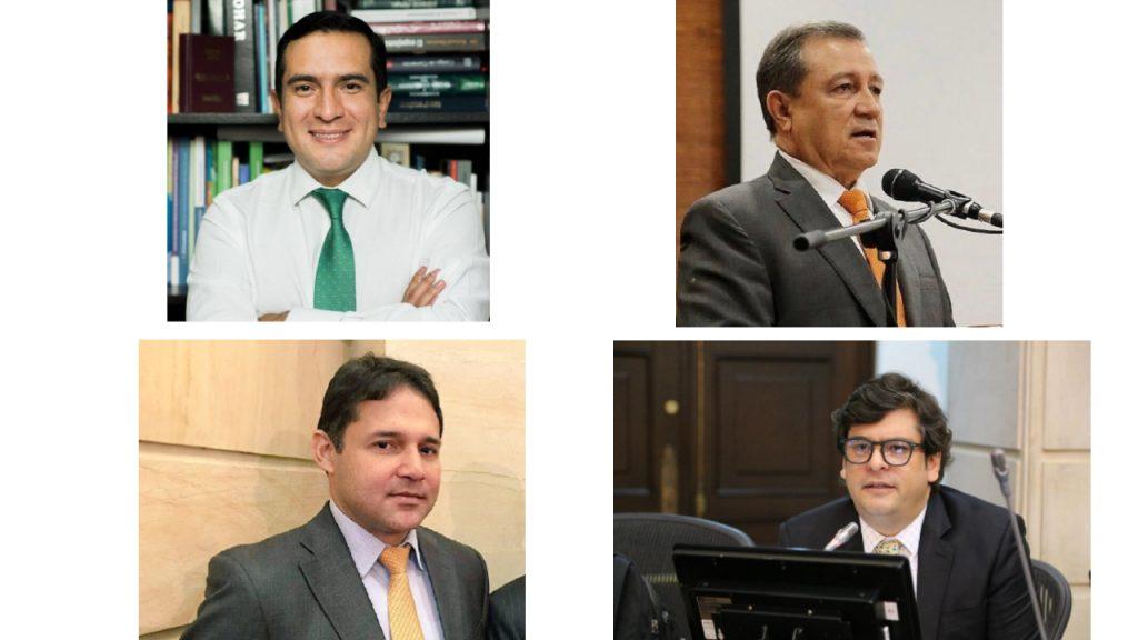 Edward Rodríguez, Ernesto Macías, Honorio Henríquez y Gabriel Velasco. / Twitter y Facebook