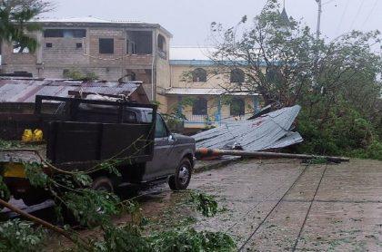 San Andrés se ha visto duramente afectado con el paso del huracán Iota.