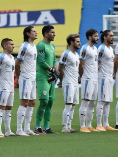 Selección de Uruguay, que confirmó un caso positivo de coronavirus, ante Selección Colombia en Barranquilla.