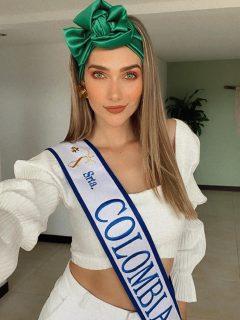 Foto de María Fernanda Aristizábal, que será Señorita Colombia hasta 2021.