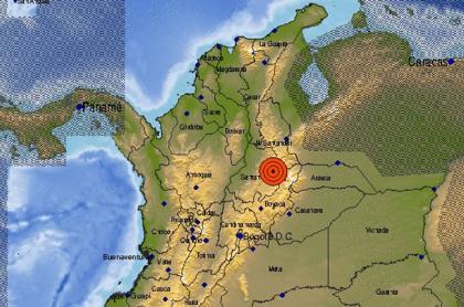 Temblor en Los Santos, Santander, este lunes 16 de noviembre.