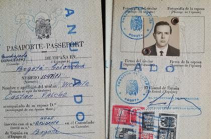 Pasaporte Vicente Castán Fechán.