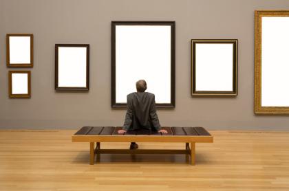 Galería de arte sin puntura, imagen ilustrativa de economía naranja.