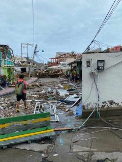 Destrucción en Providencia por huracán Iota