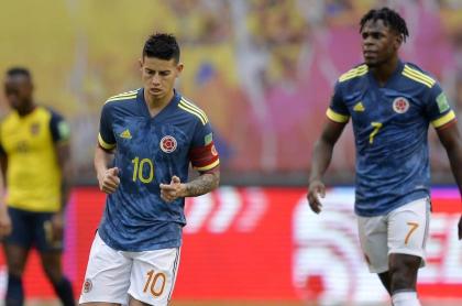 James Rodríguez en la goleada de Ecuador a Colombia