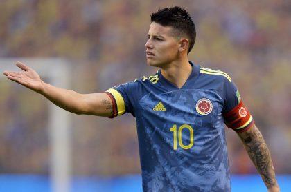 James Rodríguez en la goleada de Ecuador a Colombia por las Eliminatorias al Mundial