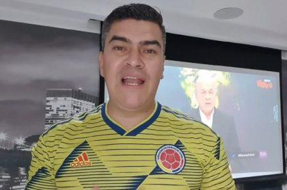Eduardo Luis López, narrador de Win Sports, analizando la derrota de la Selección Colombia.