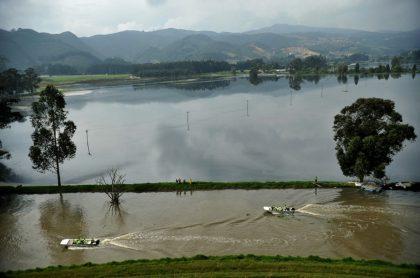 Imagen de referencia del río Bogotá ante la creciente de sus aguas por las lluvias.