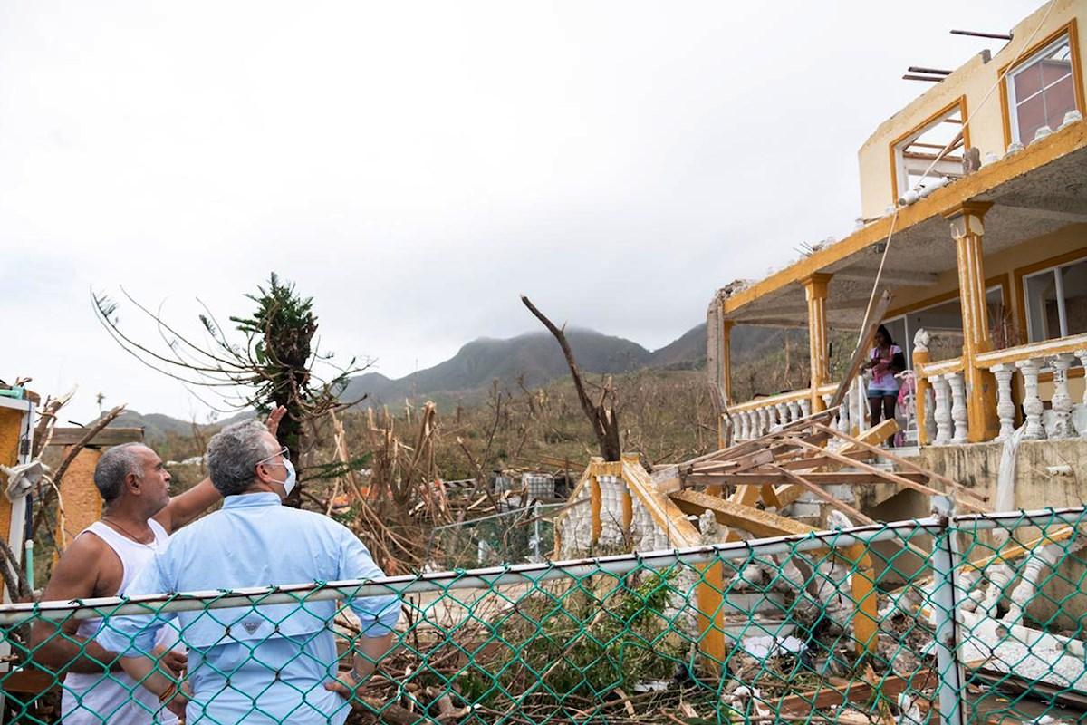Providencia, destruida por e huracán Iota