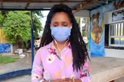 Reportera de Noticias Caracol en San Andrés lloró por tragedia