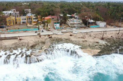 San Andrés, afectada por el huracán Iota.