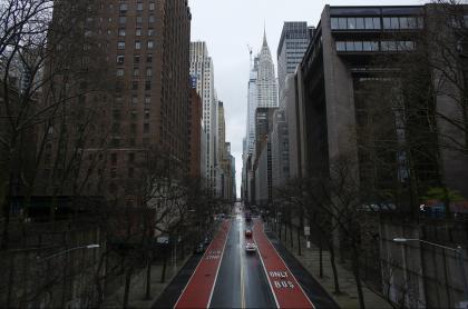 Vista de Nueva York, del 28 de marzo de 2020. La ciudad cerró sus escuelas por el coronavirus.