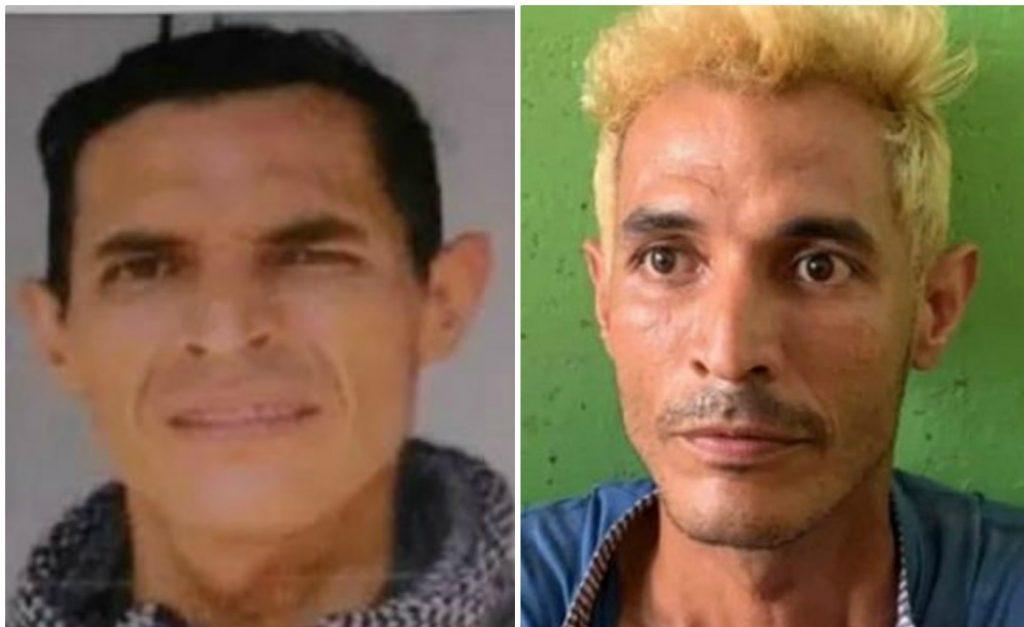 Luis Neomar García antes del asesinato a Oswaldo Muñoz y el mismo sujeto después del crimen / Policía / captura de Noticias Caracol