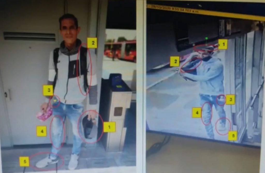 Objetos por los que identificaron a alias 'Chómpira' / Captura de video de Noticias RCN