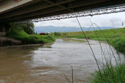 Río Bogotá, que tiene en alerta a varios municipios de Cundinamarca por el aumento de su caudal