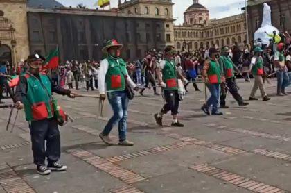 Marchas como las de la minga, el pedido de C. López en Bogotá
