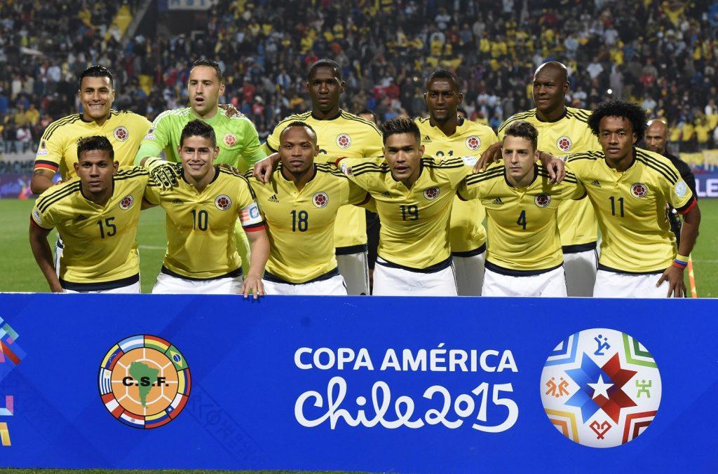 Jugadores de la Selección Colombia titulares en la Copa América de Chile, 2015 / AFP