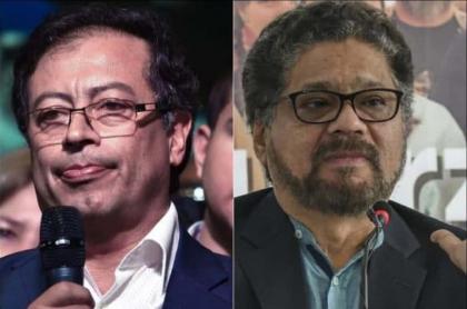 'Iván Márquez' y Gustavo Petro, senador que dice que la Fiscalía le tendió trampa al exjefe guerrillero