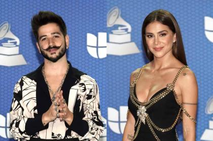 Foto de Camilo Echeverry y Greeicy, quienes estuvieron en los Grammy Latinos 2020