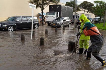Imagen de las inundacione en Bogotá, este jueves.