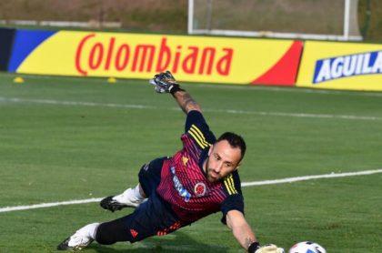 David Ospina, arquero de la Selección Colombia ausente en los partidos de Eliminatoria Sudamericana.