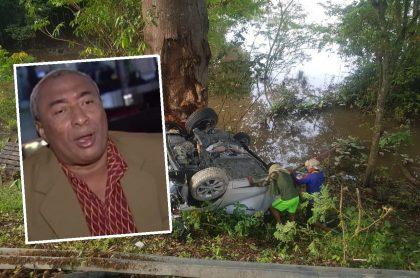 Romualdo Brito e imagen del accidente en el que murió
