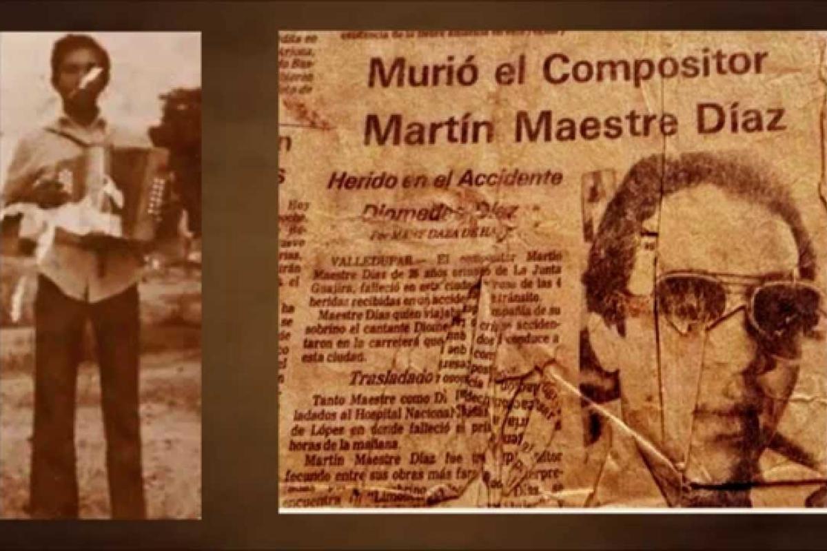 Martín Maestre, compositor vallenato que falleció en accidente de tránsito