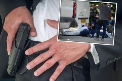 Imagen del hombre asesinado por un escolta cuando habría intentado robar en local de SuperGiros, en Barranquilla