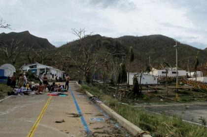 Imagen del desastre en Providencia, en donde comerciantes denuncian saqueos