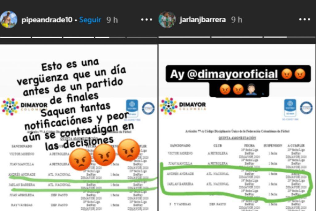 Tomada de Instagram: @pipeandrade10 y @jarlanjbarrera