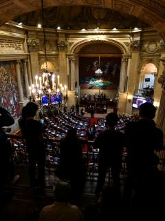 Debate en el Senado de la República donde, de nuevo, se cayó nuevamente una reforma política.