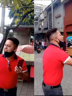 """Hombre que en Medellín amenazó con armar civiles """"para acabar con estudiantes"""" durante protestas del 21 de noviembre."""