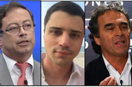 Gustavo Petro, Tomás Uribe y Sergio Fajardo, hoy protagonistas gracias a la entrevista que le dio a Semana el hijo de Álvaro Uribe. (Fotomontaje Pulzo).
