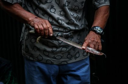 Hombre con un machete (imagen de referencia).