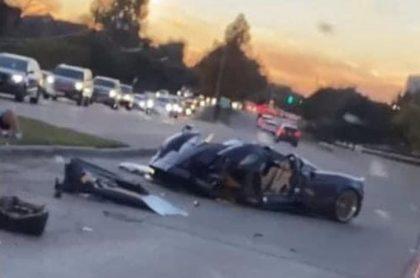 El automóvil que destrozó el 'influenciador', Gage Gillean, en Estados Unidos