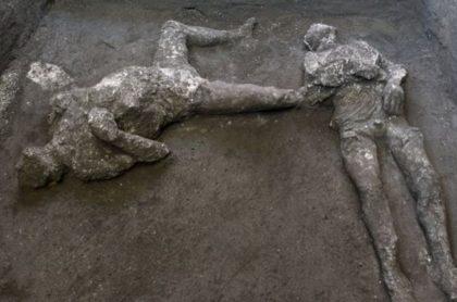 Restos de las víctimas de la erupción de Pompeya en el año 79 después de Cristo