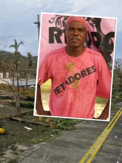 Providencia luego del paso del huracán Iota, al que exparticipante del 'Desafío' Rolando Brian (recuadro) sobrevivió luego de refugiarse en un baño.