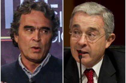 Sergio Fajardo, que respondió si es el candidato de Juan Manuel Santos, y Álvaro Uribe. (Fotomontaje de Pulzo)