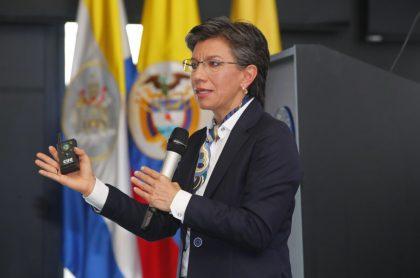 Claudia López, que presentó el diseño del corredor verde de la carrera Séptima